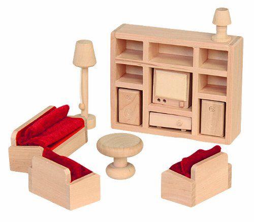 70112  Muebles de casa de muñecas sala de estar, de 11 piezas