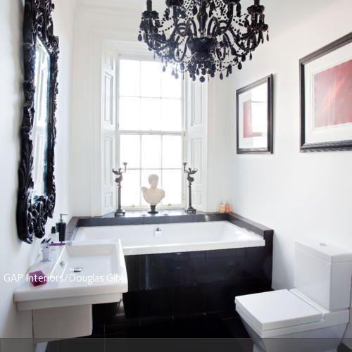 58 besten Gäste WC Bilder auf Pinterest | Gäste wc, Badezimmer und ... | {Moderne badezimmer schwarz weiss 74}