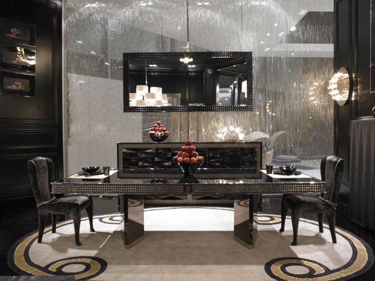 Tavolo rettangolare da salotto in acciaio inox borgia by visionnaire design samuele mazza