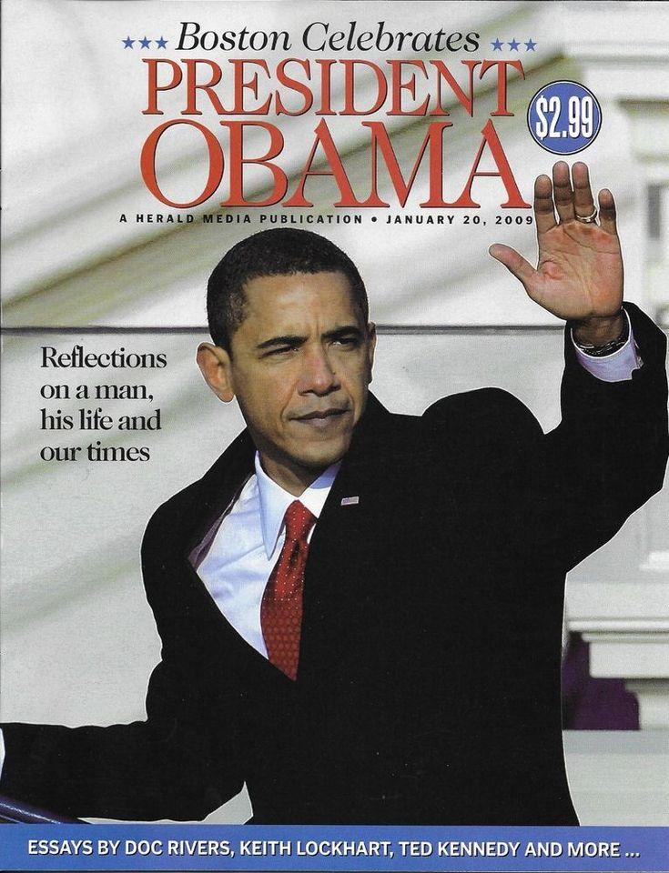 Boston Celebrates President Barack Obama magazine special Ted Kennedy Doc Rivers