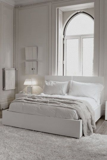 Love this all white bedroom!
