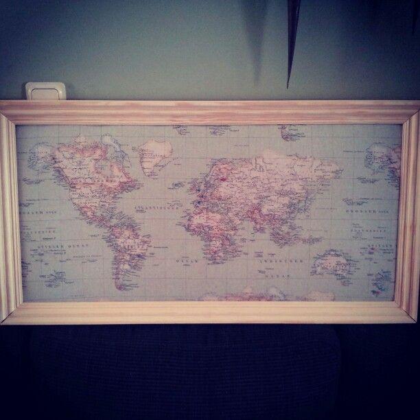 Worldmap memoboard / planner