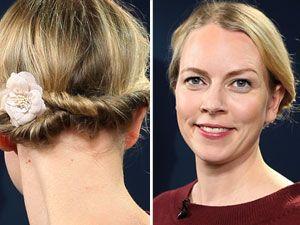 Video-Tutorial: So stecken Sie halblange Haare ganz einfach hoch