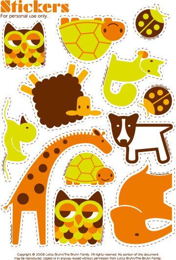 printable zoo animal stickers