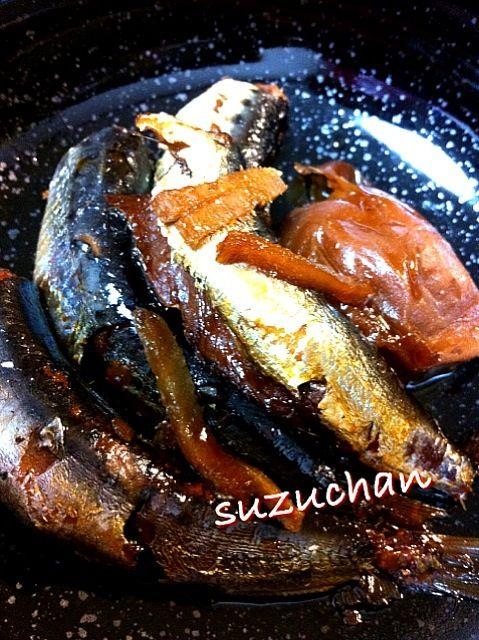 圧力鍋で骨まで柔らかくなりました - 13件のもぐもぐ - 鰯の梅甘露煮 by suzuchan