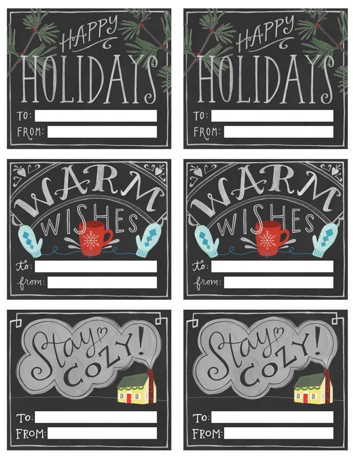 Chalkboard Printables Christmas Free Holiday Printable Round Up // Christmas Tags, Posters and More