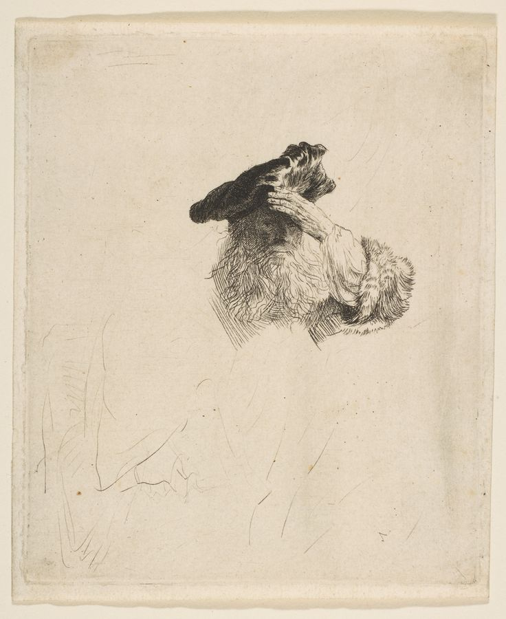 Rembrandt, U0027Old Man Shading His Eyes With His Handu0027, Ca. 1639 Etching And  Drypoint The Met NY