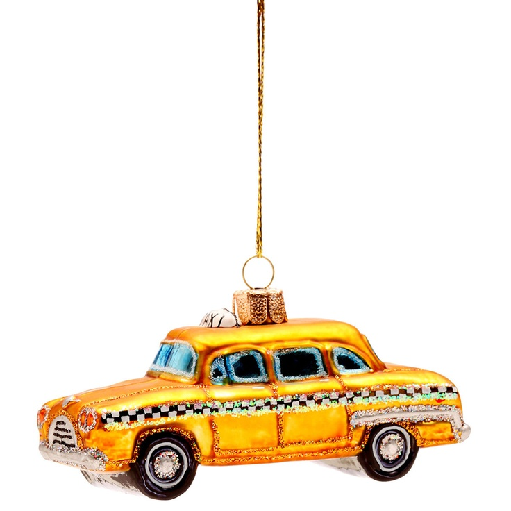 HANG ON Yellow cab hanging ornament, 10 cm - Butlers England