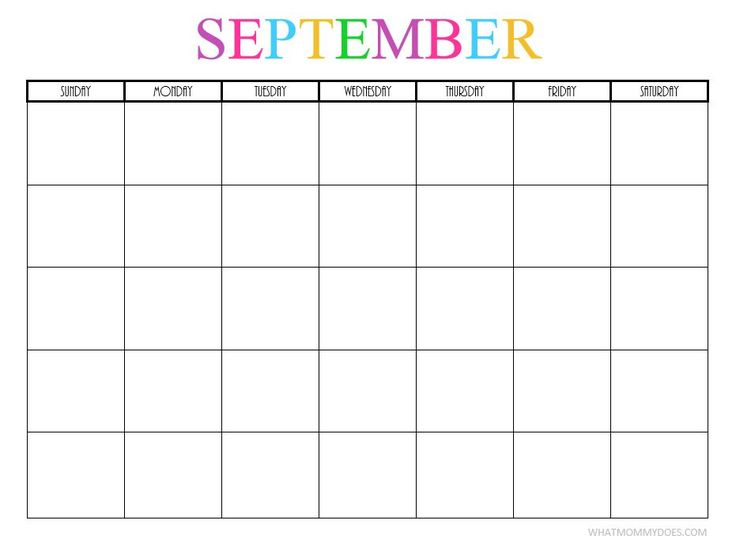 Best 20+ Blank Monthly Calendar Template Ideas On Pinterest