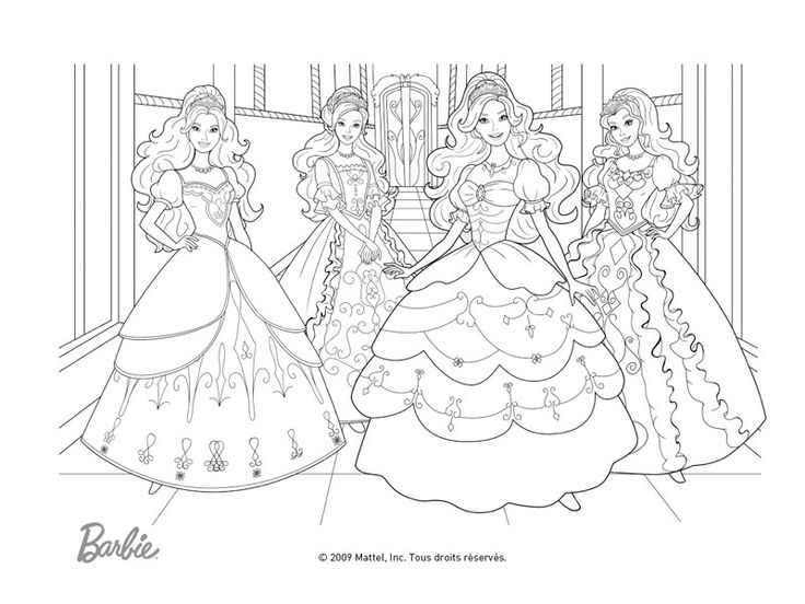93 best barbie images on pinterest barbie coloring pages - Dessin anime barbie princesse ...