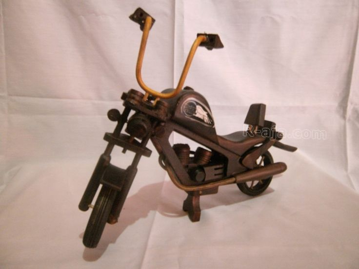handicraft Miniature wooden Harley Davidson made of Wood.