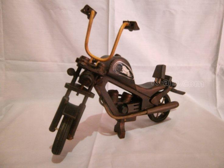 Wooden handicraft Miniature wooden Harley Davidson made of Wood.