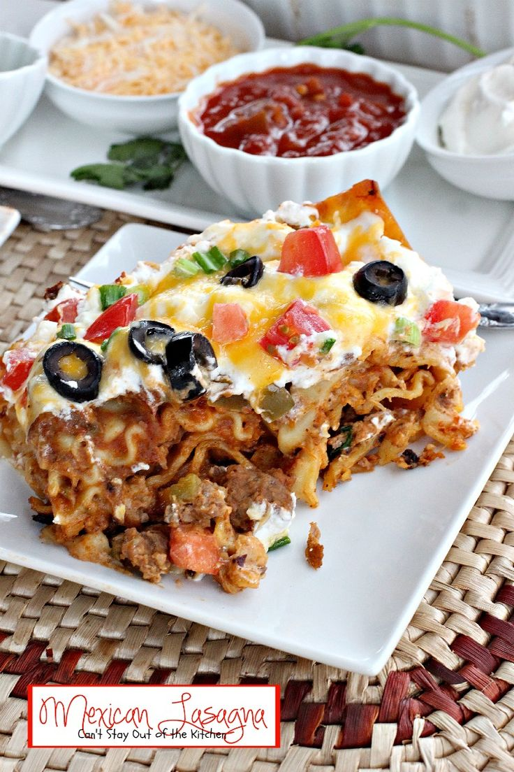 Mexican Lasagna one of the BEST lasagna recipes we've ever eaten.