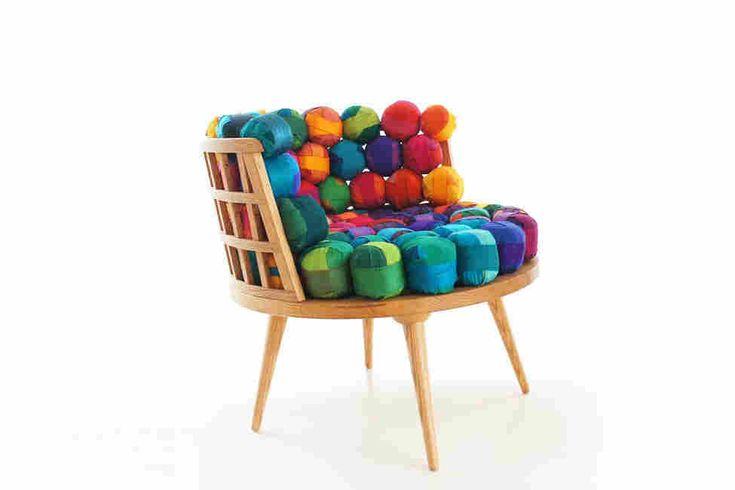 Коллекция мебели из отходов шелковой ткани