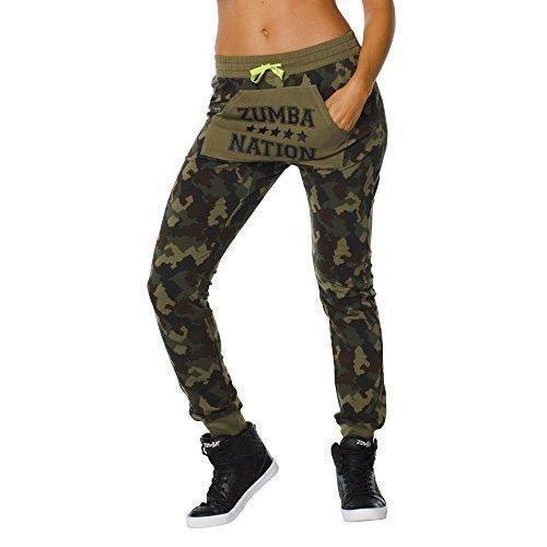 Oferta: 47.31€. Comprar Ofertas de Zumba Fitness Zumba Nation Jogger Sweat - Pantalones para mujer, color verde, talla M barato. ¡Mira las ofertas!