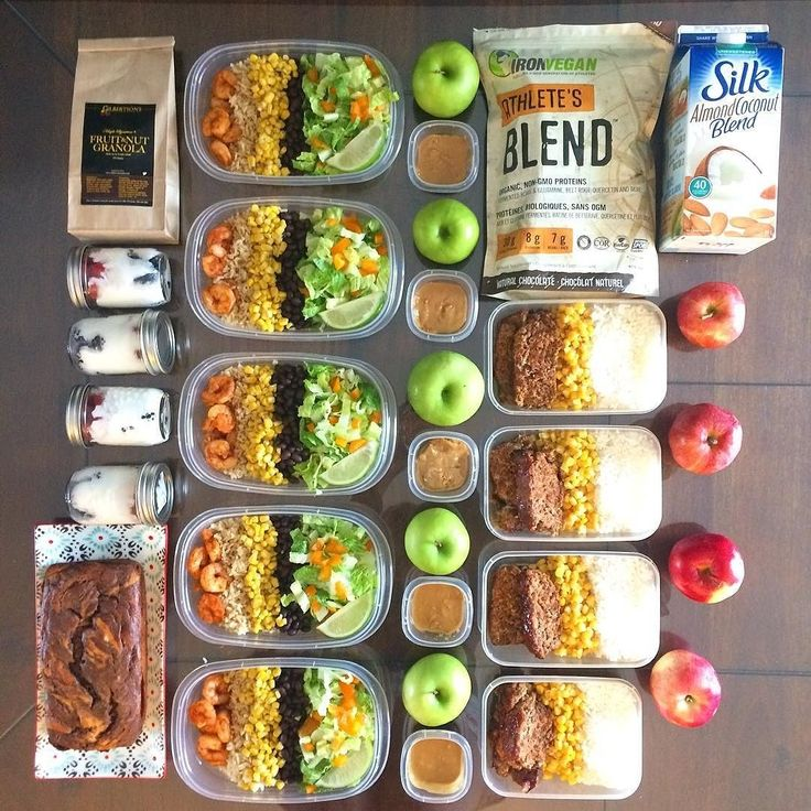 """Who says eating healthy means eating bland food? Check out how @physioash creates flavorful and healthy meals in order to hit her fitness goals! :::::::::::::::::::::::::::::::::::::::::"""""""" Another week another prep coming at you! Lunch snacks & part of breakfast are prepped - will cook dinner fresh each night! ----------------------------------  Breakfast: Dark chocolate swirl banana bread. Will have a slice with scrambled eggs turkey bacon & coffee each morning  Lunch: Chipotle chili shrimp…"""