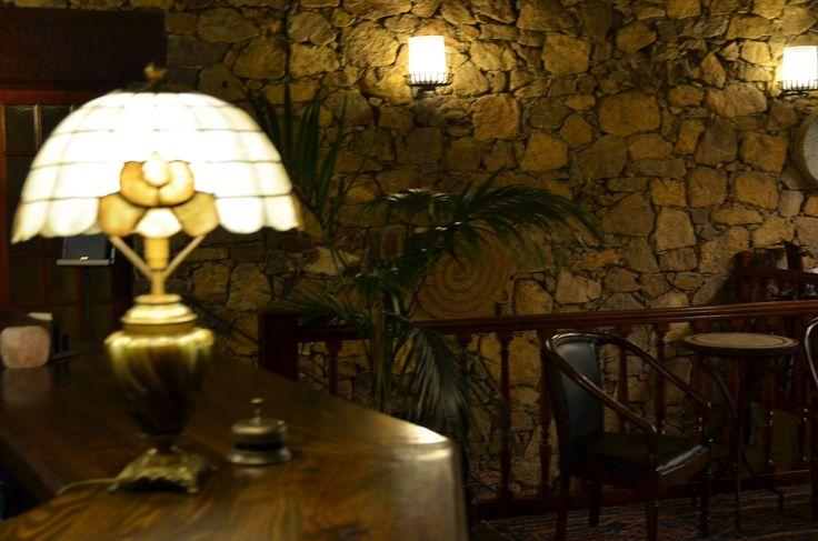 Hotel Restaurant Galena Mas Comangau (Begur) Recepción.