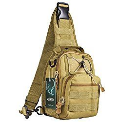 G4Free Outdoor Tactical Backpack,Military Sport Pack Daypack Shoulder Backpack for Camping, Hiking, Trekking,Rover Sling Pack Chest Pack    Adjustable Removable Shoulder Strap Handy, Compact, Suitable for Short-Distance Travel Used Good Hardware, Nylon Suture, Stronger and easier buckles The Straps Can be Hang With a Few Small Pendant Material Strong for Many years,Great Texture