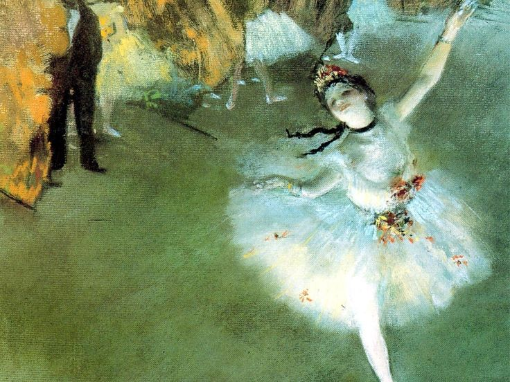 """A Degas pastel. I love pastels! The media that is not the group of colors called """"pastels""""."""