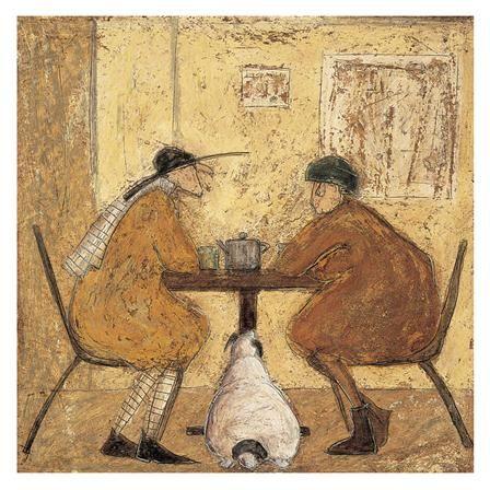 achica sam toft tea for three box frame canvas 40 x 40