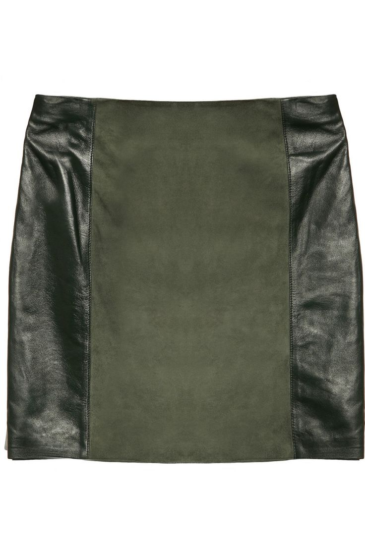 DAY Birger et Mikkelsen|Leather and suede mini skirt|NET-A-PORTER.COM