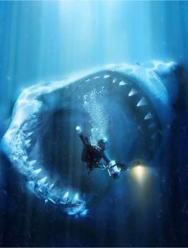 Hey guys! This is the Megladon shark. It is HUGE! A whole family can fit in its jaws. They say this shark is extinct. But they said those giant squid is extinct but its still alive! People have estimated there are 4 of these sharks left in the world. Have fun swimming in the ocean!