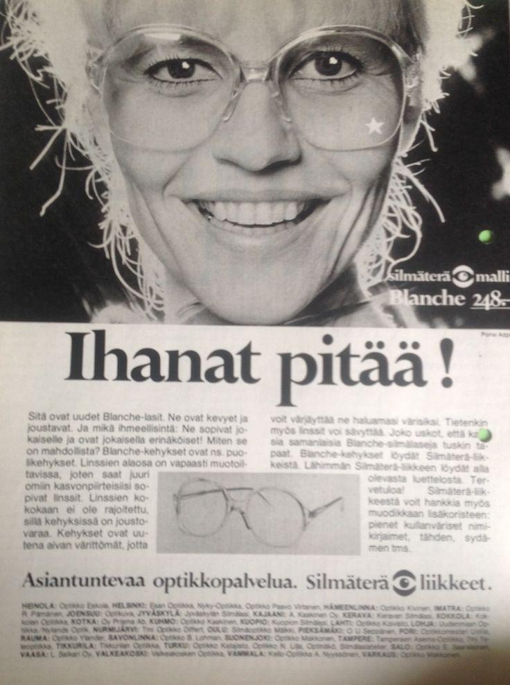 Silmäterä liikkeet silmälasi mainos
