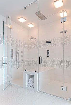 White Haze Turkish Marble Bathroom With Thassos And Akdo