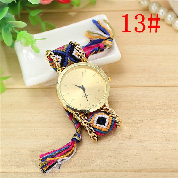 Vansvar Fashion Braided Friendship Bracelet Geneva Watches Hand Made Women Quartz Watches Relogio Mujer Drop Shipping 1165