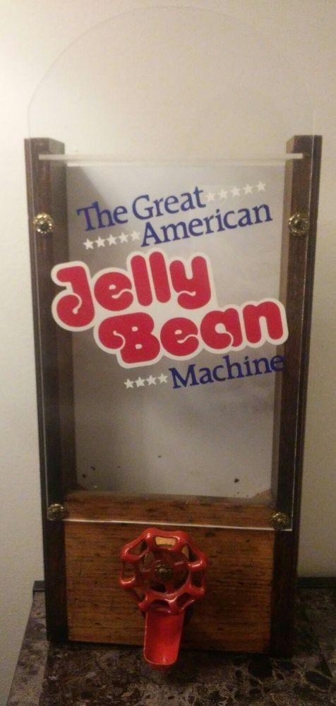 Vintage The Great American Jelly Bean Machine Wooden Candy Dispenser #TheGreatAmericanJellyBeanMachine