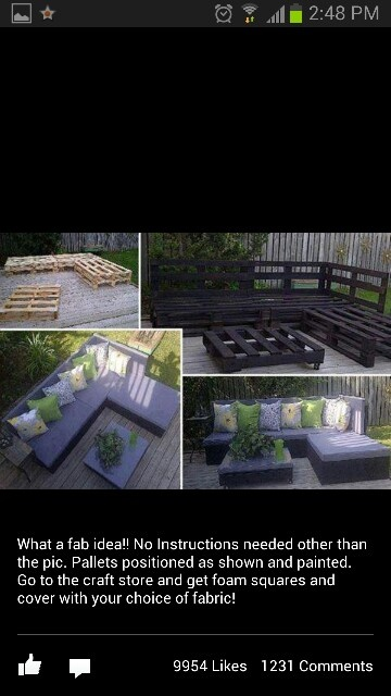Out door furniture made from pallets!