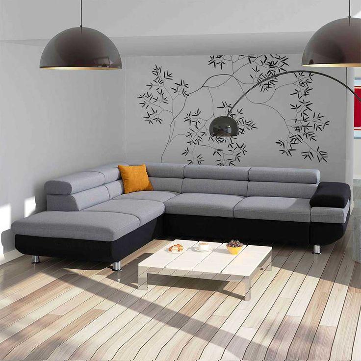 Eckcouch grau schwarz  Die 25+ besten Eckcouch Ideen auf Pinterest | Twiggy-Stil, Beiges ...