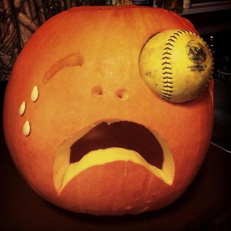 Softball pumpkin