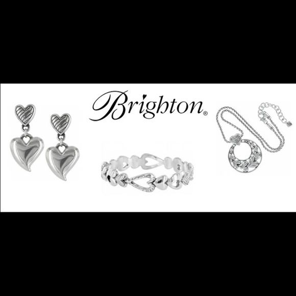 Brighton Jewelry Info Straight from Brighton.com Brighton Jewelry Info Straight from Brighton.com for those who aren't familiar with Brighton. See picture 2. Most of their jewelry is dipped in pure silver and will not be stamped Sterling. Look at Brighton.com under FAQ for verification.  Thanks ❤️ Brighton Jewelry Necklaces