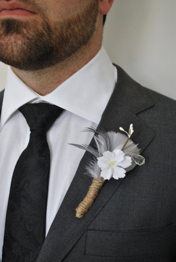 #boutonniere #weddingboutonniere #whiteboutonniere #greyboutonniere #wedding #men