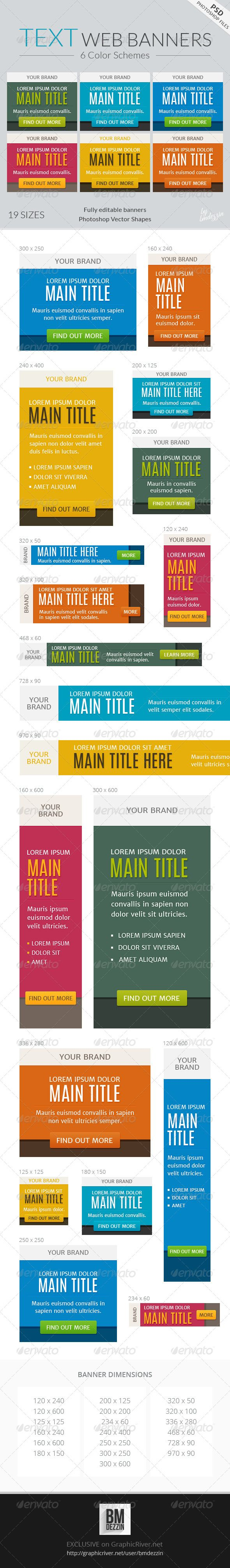Text Web Banners Template PSD   Buy and Download: http://graphicriver.net/item/text-web-banners/7232028?WT.ac=category_thumb&WT.z_author=bmdezzin&ref=ksioks