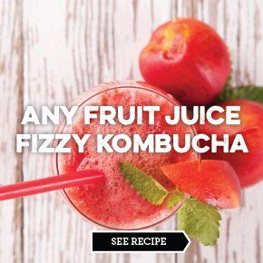Any Fruit Juice Fizzy Kombucha Flavor-ideas for flavoring the 'bucha http://www.biomannafarms.com/blog