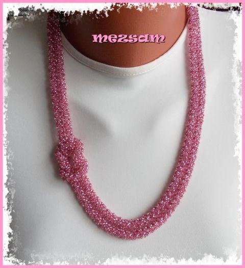 Mályvarózsaszín csillogás - nyaklánc