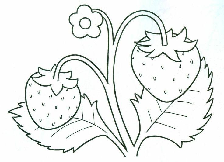 truskawki na haft płaski