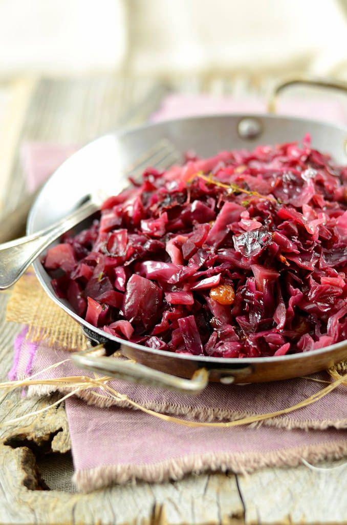 Chou rouge cuit lentement aux raisins secs