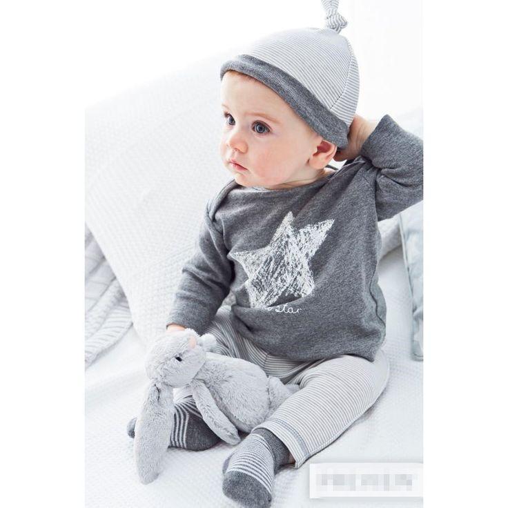 2015 Новый стиль детская одежда устанавливает мальчик хлопок 3 шт. комплект шляпа + t + брюки девушка одежда свободного покроя платье рядом костюма младенца костюм купить на AliExpress