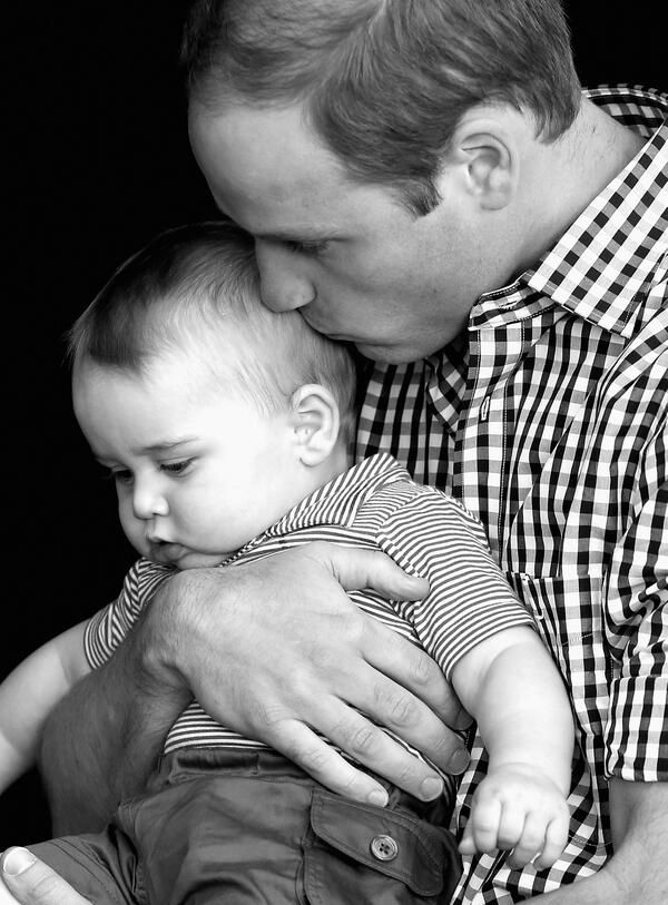 Prince William kisses his son, George, on the head at Taronga Zoo in Australia on Easter Sunday. 2014