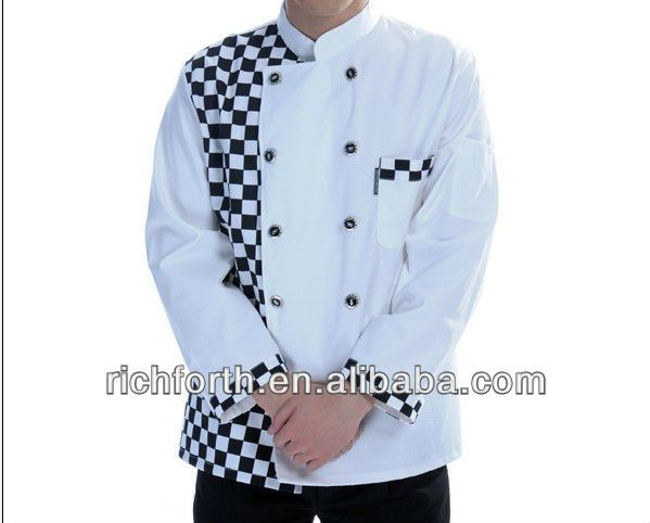 #shepherd check chef uniform, #japanese style chef uniform, #chef jacket