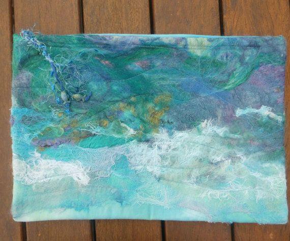 The Wild Sea Zippered Bag by ArtFiberStitch on Etsy