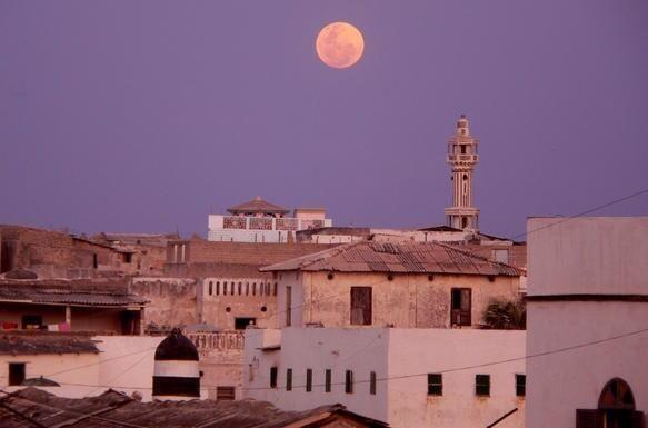 Sunrise in Marka, Somalia