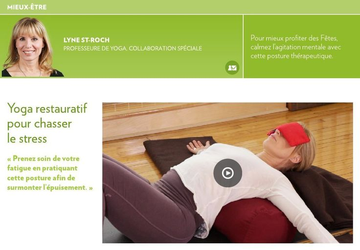 Yoga restauratif pour chasser le stress - La Presse+