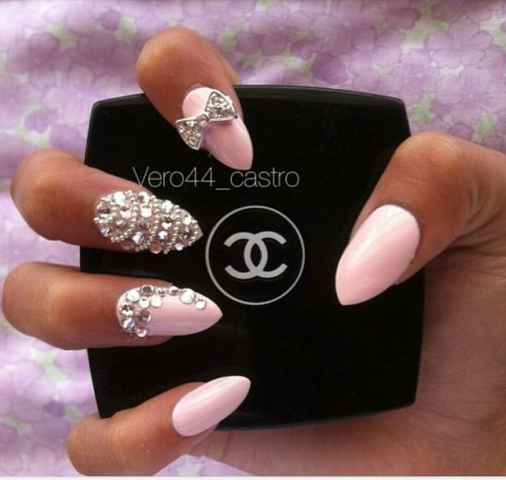 Pink almond nails | Nails | Pinterest | The shape ...