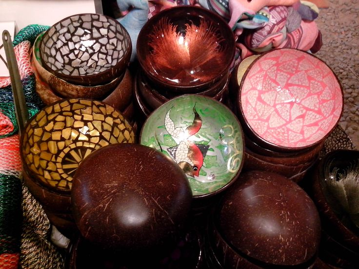 one of the art and cfraft made in cambodia made from coconut. Love it