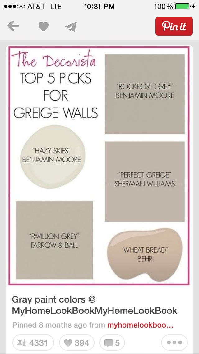 1000 images about greige on pinterest greige paint greige paint colors and benjamin moore. Black Bedroom Furniture Sets. Home Design Ideas