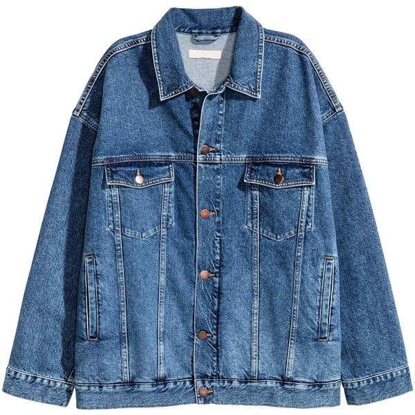 Túlméretezett farmerdzseki (€35) ❤ liked on Polyvore featuring outerwear, jackets, clothing - outerwear, mom clothes and sweatter